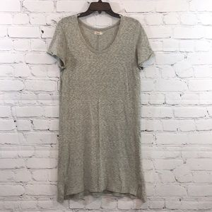 Faherty scoop neck gray t-shirt dress small